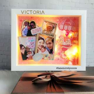 Personalised 3D Photo Frame (Newborn Girl Pink)
