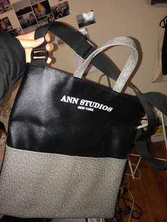 Ann Studios two-way leather bag