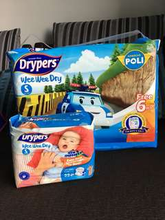 Drypers Wee Wee Dry Size S Limited Edition Robocar Poli