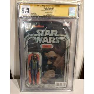 CGC SS 9.8 Star Wars Darth Vader #22 Cylo Action Figure Variant Signed by John Tyler Christopher