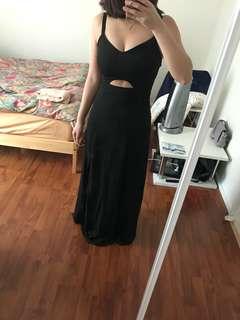 Black Bralet Maxi Dress