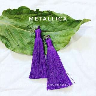 METALLIC VIOLET - tassel earrings