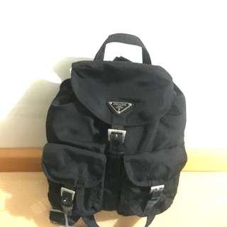 中古 Prada Backpack Vintage Nylon 9成新 黑色款尼龍背囊