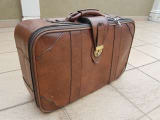 Vintage old-fashioned suitcase luggage