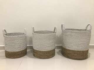 Rattan Laundry Basket 34cm