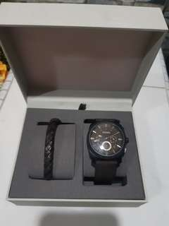WTT/WTS Authentic mens Leather Fossil watch and bracelet