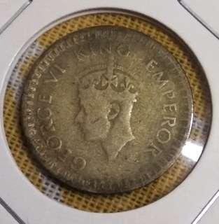1944 Half Rupee India