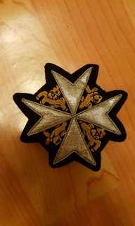 全新聖約翰西裝刺繡袋章