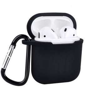 AirPods Case Holder Protective Shock Resistant Cover with Keychain