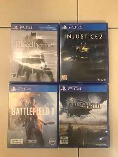 FOR SALE/FOR TRADE/BUYING PS4 GAMES