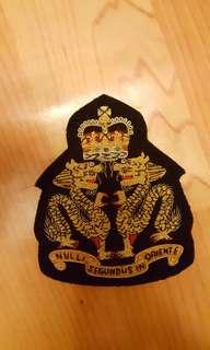 皇家香港軍團RHKR長官用西裝刺繡袋章