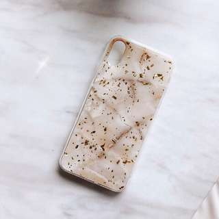 Marble Gold Case Iphone 7