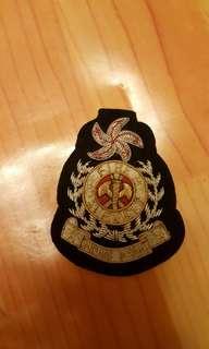 全新香港消防署高級長官刺繡帽章