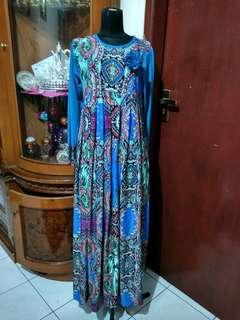 Gamis jersey motif batik