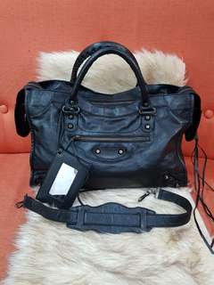 Authentic Balenciaga Classic City Motorcycle Two Way Leather Bag