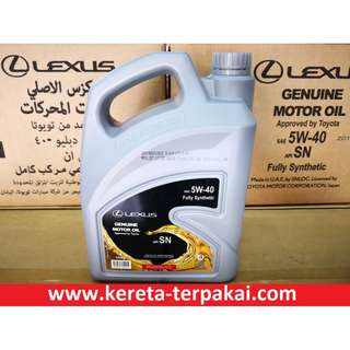 Lexus SAE 5w-40 Fully Synthetic Engine Oil