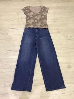Uniqlo Jeans + Hollister California Top