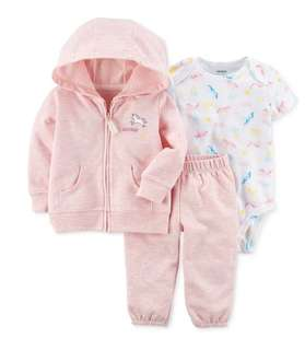 🚚 *6M* Brand New Carter's 3-Piece Little Jacket Set For Baby Girl