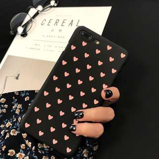 Pink Heart Iphone 7 Case