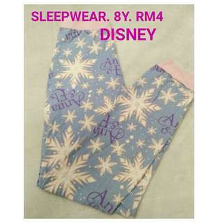 8y sleep pants