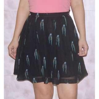 MONKI Flowy Chiffon Skater Skirt