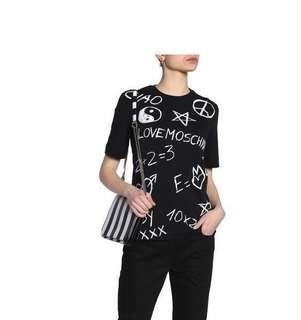 🈹️🆕Love Moschino 粉筆字t-shirt