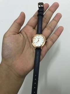 VNC rose gold watch black strap