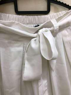 White Culottes Pants