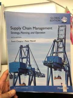 Supply Chain Management 6th edition - Sunil Chopra