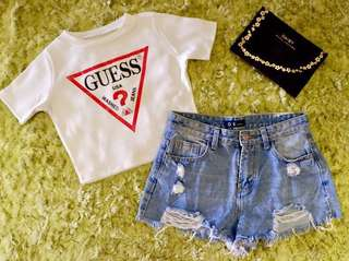 New! On hand Guess croptop