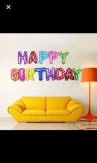 Happy birthday rainbow balloon