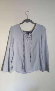 Laced Grey top