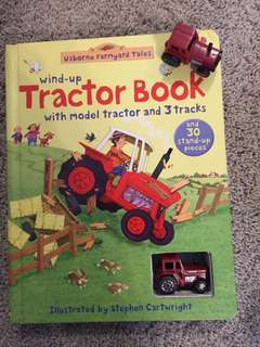 Wind up tractor book by usborne farmyard