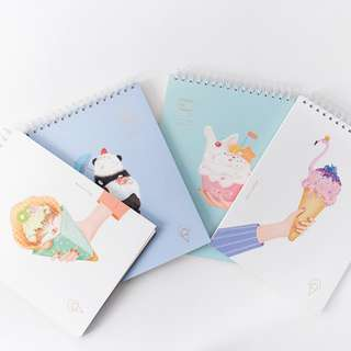 Animal Ice Cream Spiral Sketchbook B5