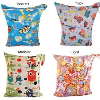 Double Pocket Wet Bag/ Diaper Bags
