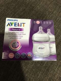 Brand new philips Avent Natural Bottle 2 x 125 4oz 0m+