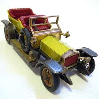 Lesney's Matchbox Y-10 1906 Rolls Royce Silver Ghost (Models of Yesteryear Series)  * Original Super Vintage Set - Released in 1969 * Excellent Condition by Vintage Standards  (Diecast Vintage Car Collectible)