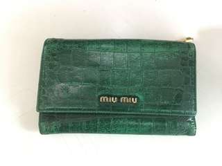 Miu Miu Crocs Embossed wallet