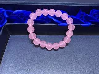 粉色玉髓手串
