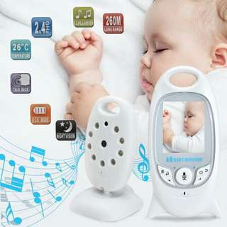 2.4 GHz Wireless Digital Video Baby Monitor Audio Talk Night Vision