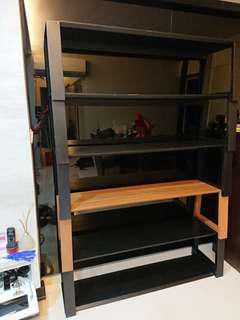 Designer solid wood stackable bench shelf 5 piece set