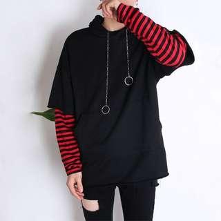 Kaos hoodie lengan panjang import original