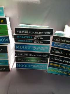 Medbook med books for sale Snell Moore Guyton Harpers Bates Netters Katzung Difiore