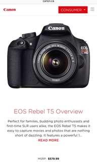 Canon EOS Rebel T5 BODY