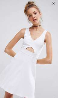 ASOS White Dress with Cut Out