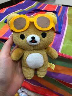 Sunglasses rilakkuma keychain