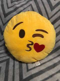 Emoji pillow from New York - kissy face
