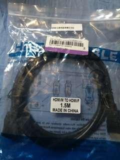 🚚 HDMI 公对母延长線 (1.5米)