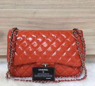 Chanel Patent Jumbo Flap Bag