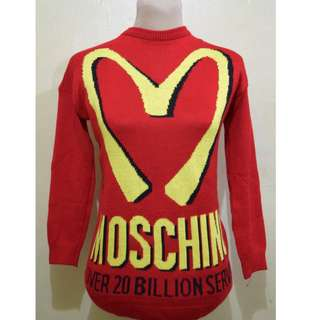 Moschino/Mcdonald's Collection Red Sweater